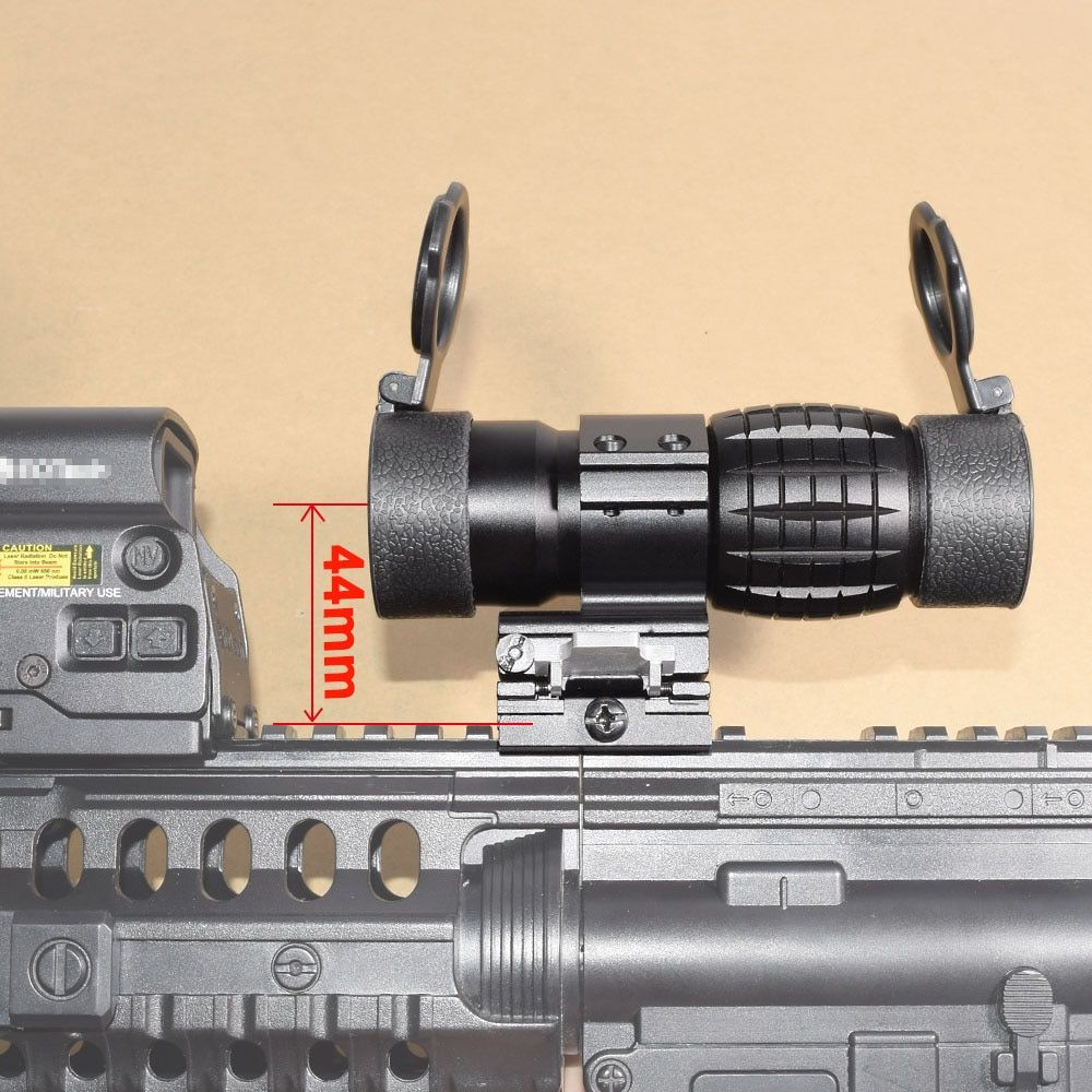 Tactical 3X Magnifier Scope Optics Scopes Riflescope Fits Aimpoint Sight with Flip UP Flip-UP Mount Side Picatinny Weaver Rail