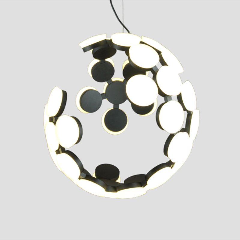 Moderne Led Pendelleuchte Unregelmäßigen Hohl Form Hängelampen Wohnzimmer Küche Designer Suspension Leuchte