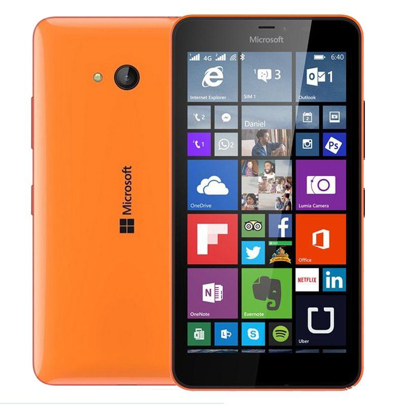 original 100% Original Microsoft Lumia 640 8MP Camera NFC Quad-core 8GB ROM 1GB RAM mobile phone LTE FDD 4G 5.0 1280x720 pixels