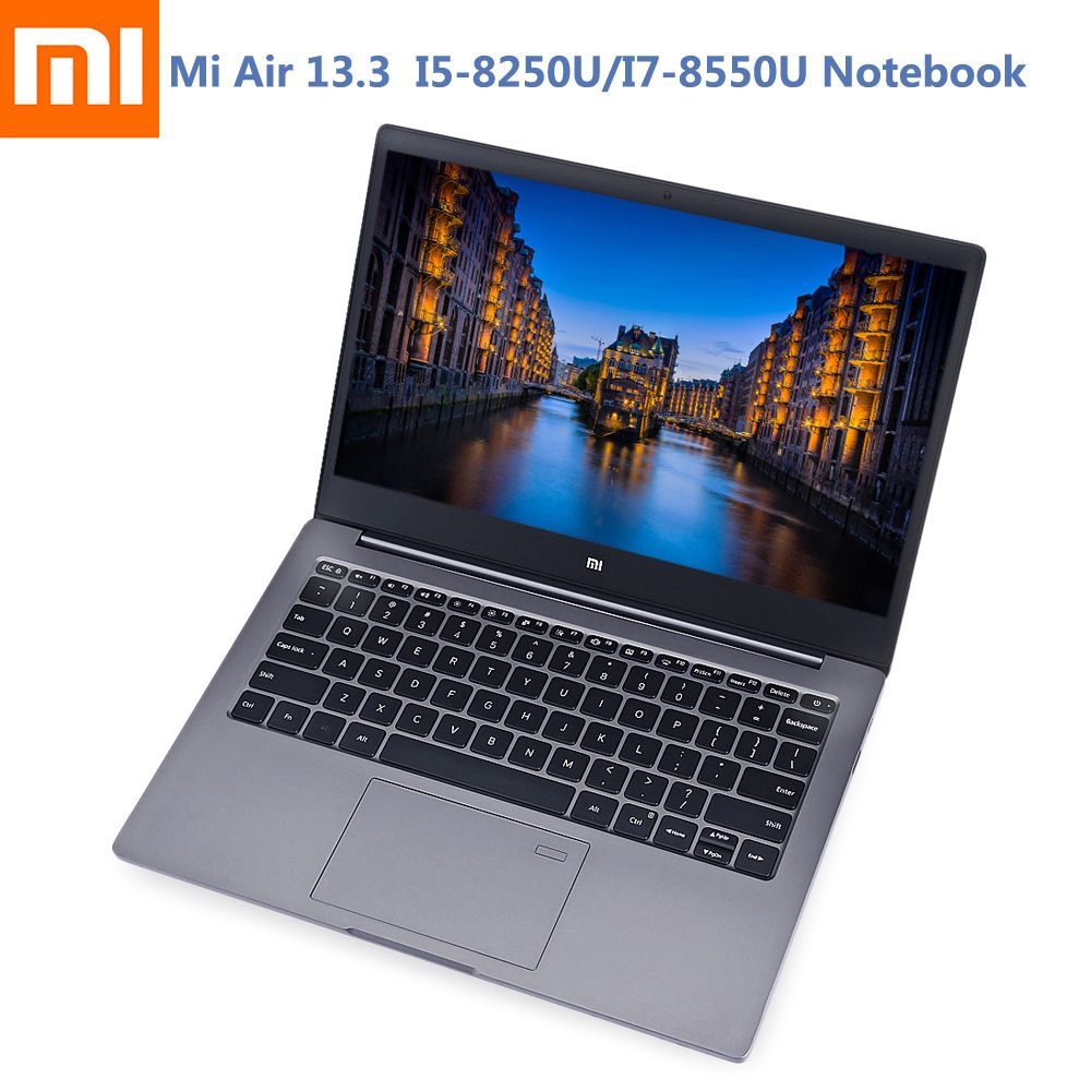 Xiaomi Mi Notebook Air 13.3 Ultra Thin Windows 10 Intel Core I5-8250U/I7-8550U Quad Core 8GB+256GB Fingerprint Dual WiFi Laptop