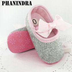 2017 nouveau-né Premier Marcheur Bébé Bébé Filles Coton Sequin Infantile Semelle Souple Chaussures fond Mou Bebe Filles Chaussures