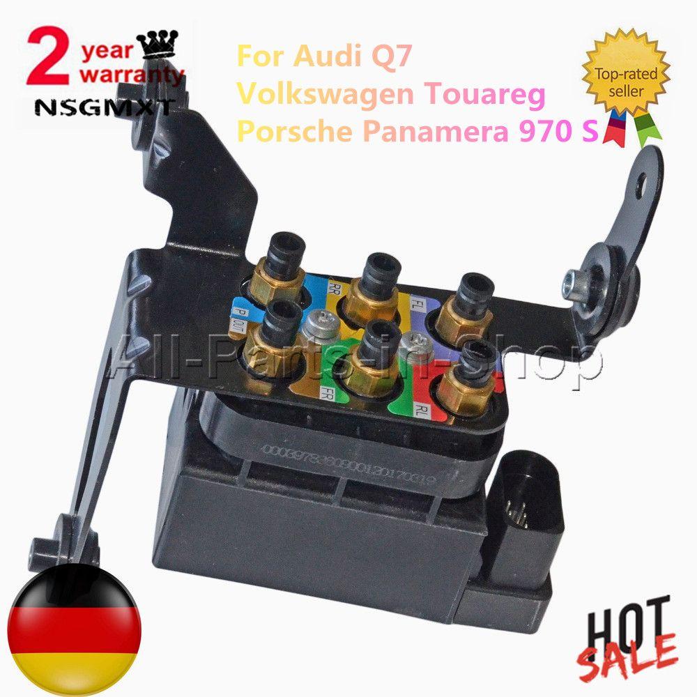 Valve Block Air Suspension Air Supply For Volkswagen Touareg Audi Q7 Porsche Panamera 970 S 4.8L 3.0 97035815302 7L0698014