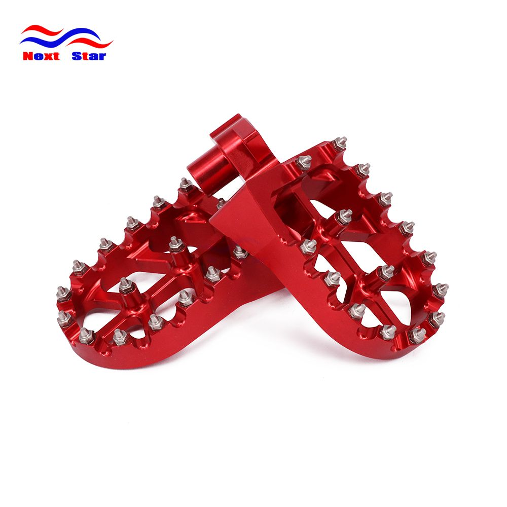 CNC Motorcycle foot rests Footrest footpegs Pegs Pedals For HONDA YAMAHA CR125 CR250 CR500 CR 125 250 500 YZ YZ125 YZ250 WR400