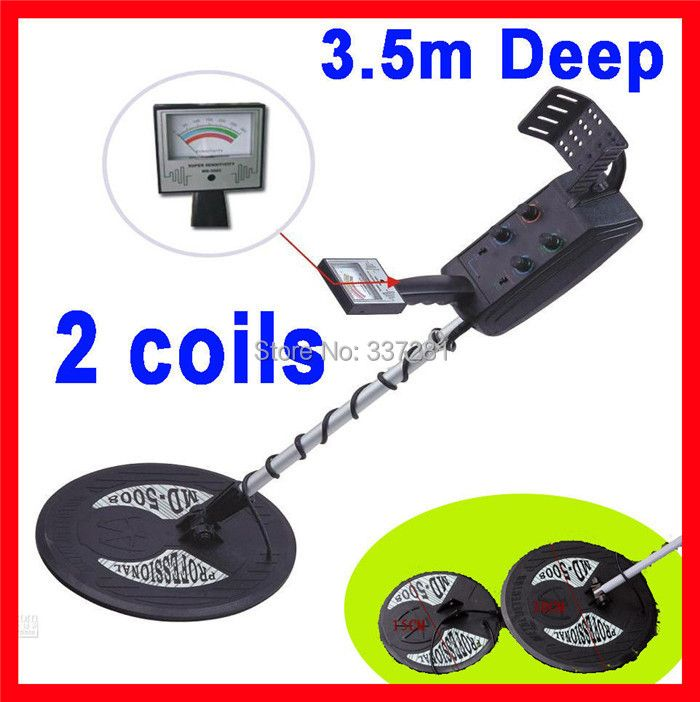 MD-5008 Under ground metal detector,gold digger,coin finder,treasure hunter Big coil & small coil(3.5m detecting depth)