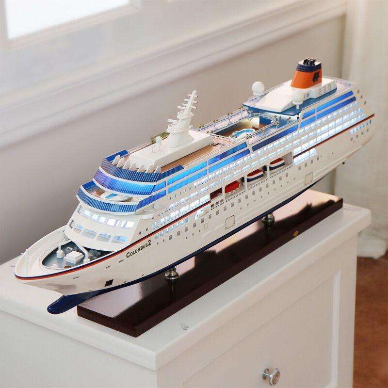 Mediterranean Columbus Large Cruise Model Craft Ship Decoration Ornaments Ship Model Gifts Manual European Craft Accessories