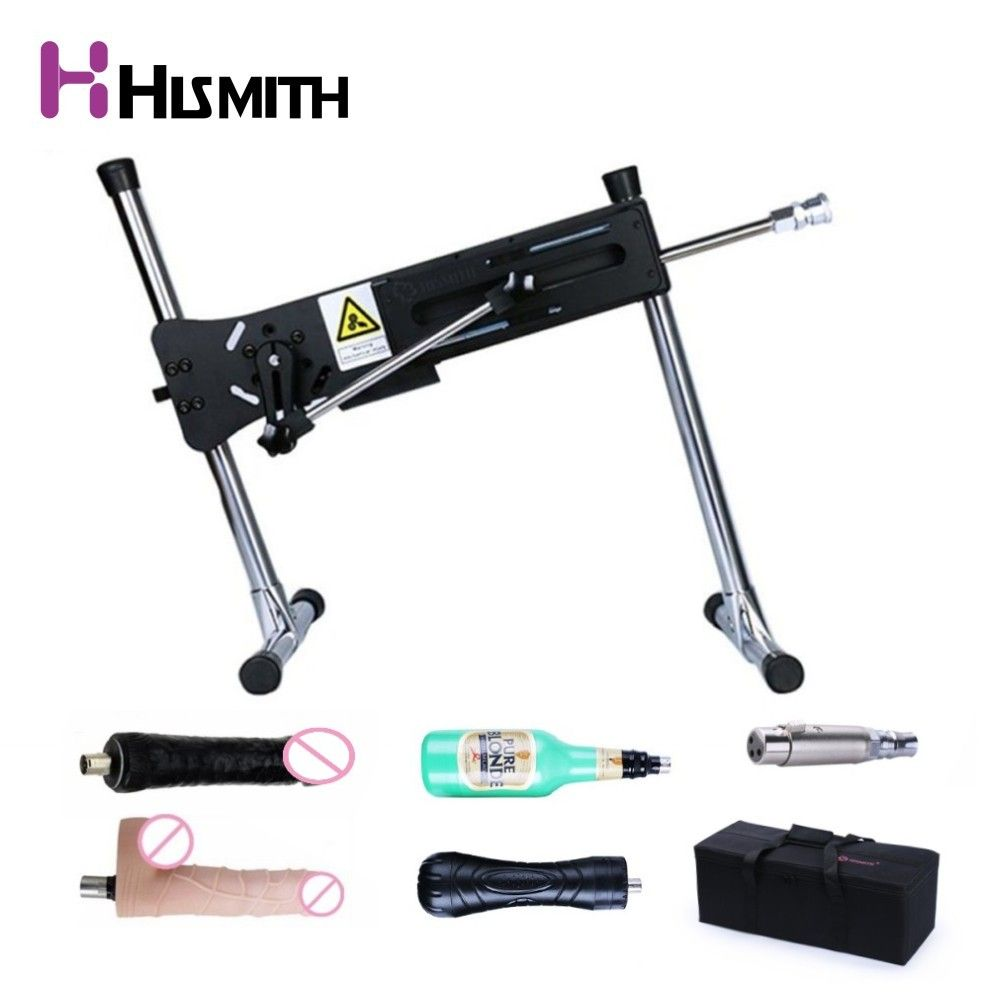 Hismith Super Quiet Premium Sex Machine Wire-controlled Love Machine With Dildos and Vagina cup portable bag