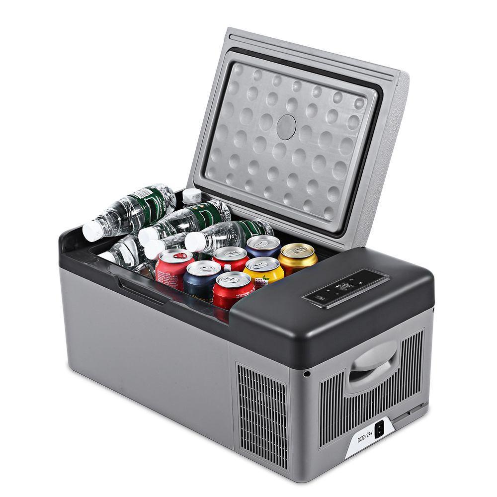 C15 15L AC DC Portable Refrigerator For Car Home Picnic Camping Party Led Compressor Car Refrigerator Auto Cooler Freezer New