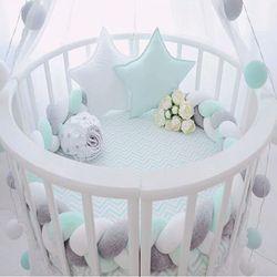 200 cm longitud cama de bebé Color puro tejer felpa cuna Protector para recién nacidos Baby Decoración