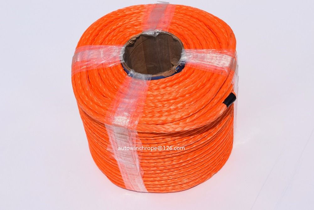 High Quality 10mm*100m Synthetic Winch Rope,ATV Winch Cable,Plasma Rope,Towing Rope,Boat Winch Rope