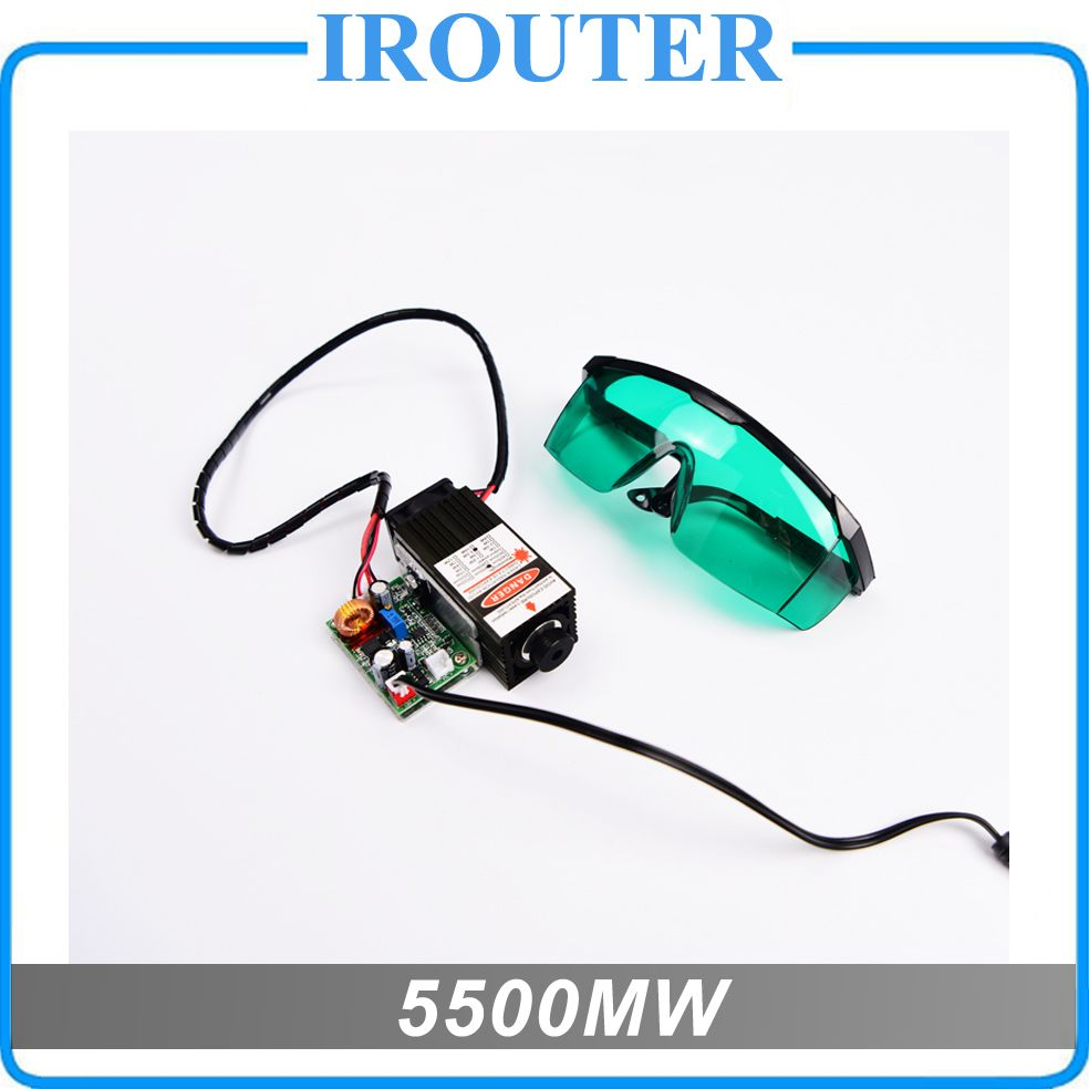 5.5w 450nm blue laser module , laser engraving machine parts , laser cutting TTL module 5500mw laser tube