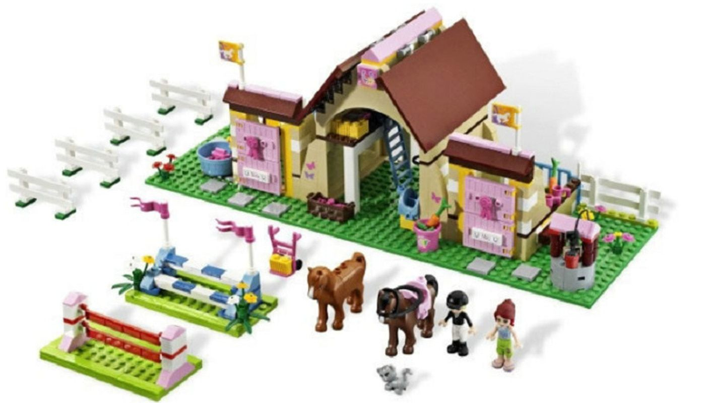 10163 Heartlake Mia's Farm Stables 400 Pcs Legoing Friends Series Building Blocks Toys For Children with 3189 Legoings