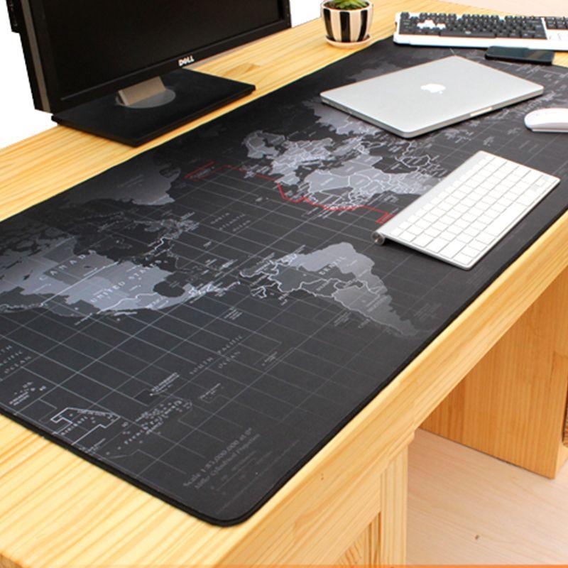 1000*500mm ancienne carte du monde anti-dérapant grand tapis de souris de jeu verrouillage bord bureau tapis de souris pour LOL surprise cs go Dota 2 Gamer