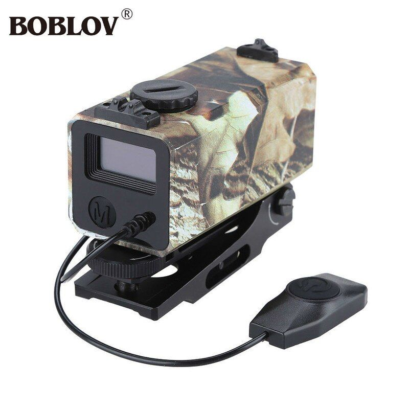 BOBLOV LE032 Mini Hunting Scope Tactical Zielfernrohr Geschwindigkeit Messen Abstand Meter OLED Trail mit Schienenmontage Leichte