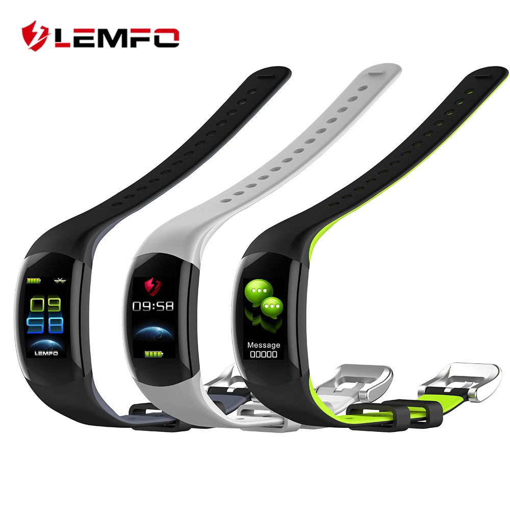LEMFO LT02 Smart Wristband Color LCD Fitness Bracelet Heart Rate Monitor Fitness Bracelet IP68 Waterproof Pedometer Smart Band