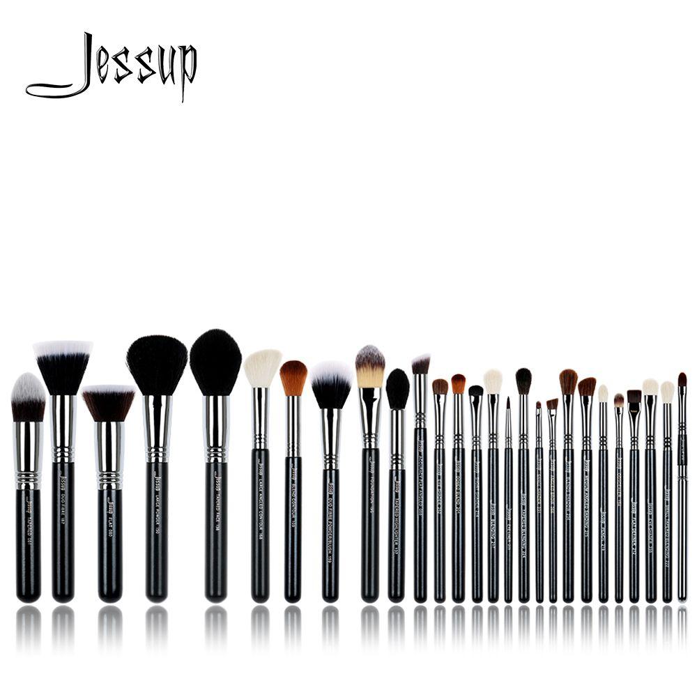 Jessup pinceaux 27 pièces Pro maquillage brosse ensemble fond de teint ombre à paupières rouge à lèvres poudre mélange beauté pinceaux Kit T133