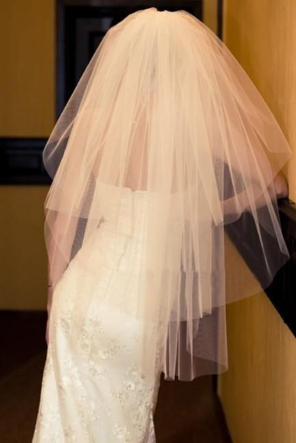 Nuevo blanco de marfil de la boda accesorios vestido de novia velo + peine