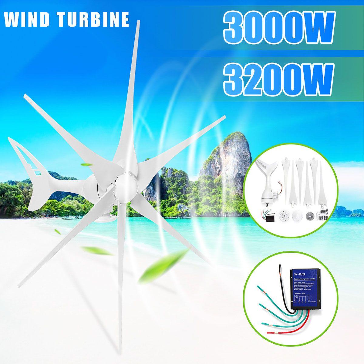 3200/3000 W Wind für Turbine Generator 12/24 V 3/6 Wind Klingen OptionWind Controller Geschenk Fit für home + Montage zubehör tasche