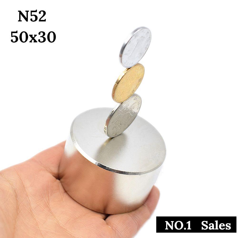 Aimant fort N52 Dia 50x30mm aimant néodyme rond chaud 40x20 terre Rare super puissant métal gallium magnétique permanent
