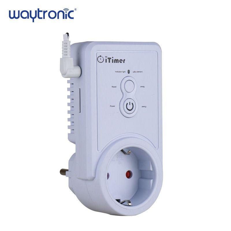 GSM Smart Power Prise Plug Prise Téléphone Portable Anglais Russe SMS Télécommande Calendrier Commutateur Température Contrôleur avec Capteur