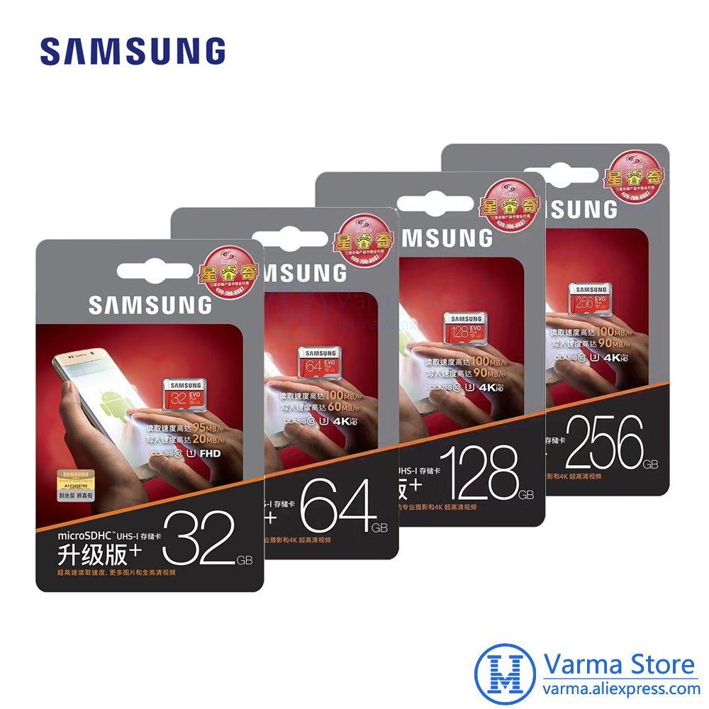 Samsung TF Card MB-MC EVO Plus micro SD flash memory card UHS-I 32GB/U1 U3 64GB 128GB 256GB Class10 4K microSDHC microSDXC