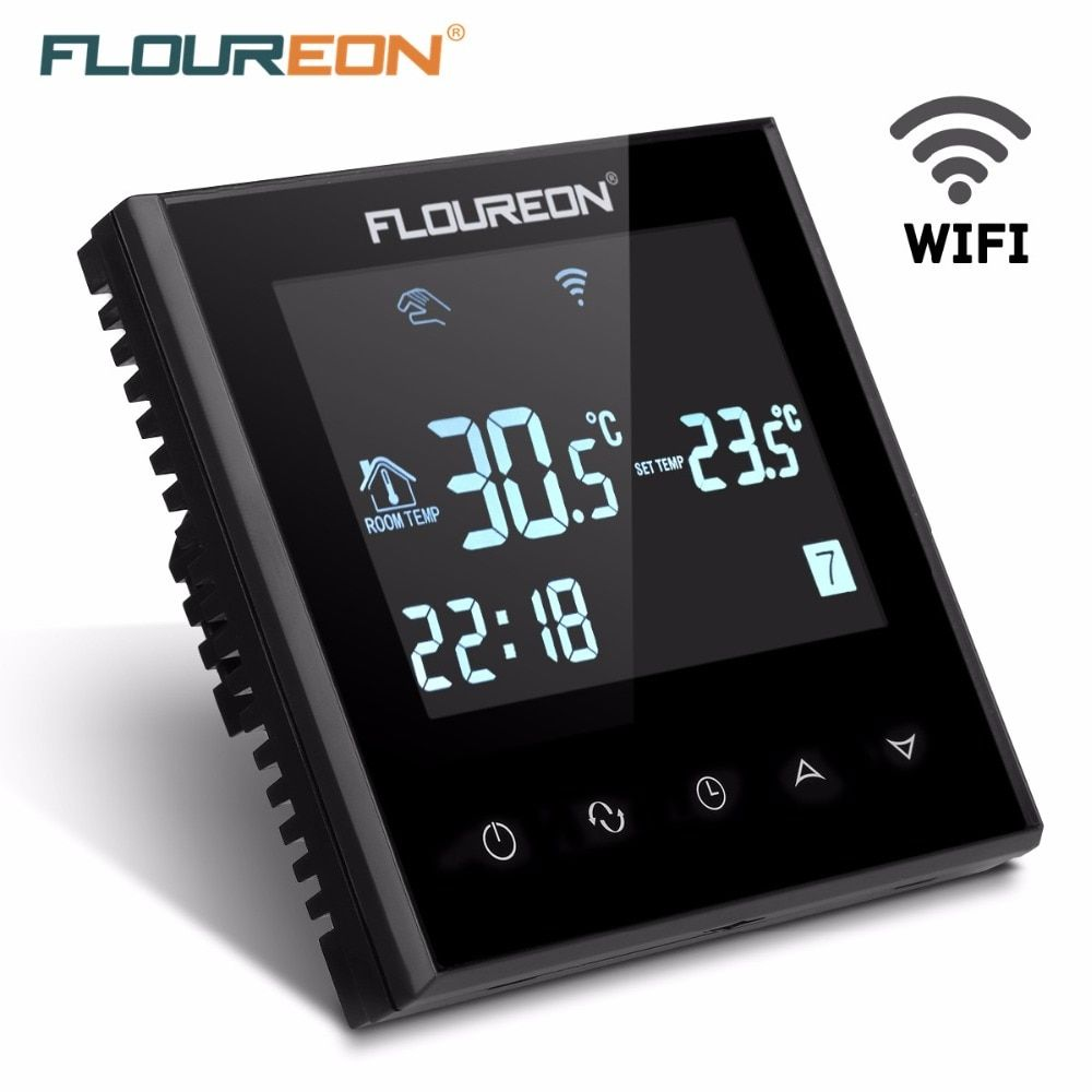 Floureon Smart Wi-Fi Programmable Digital Touch Screen Heating Thermostat  Weekly Programming Room Floor Temperature Controller