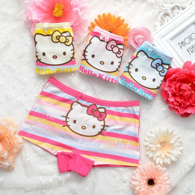 4 шт./лот хлопок нижнее белье для маленьких девочек с милым рисунком кота кролик Трусики для женщин детские трусы-боксеры для девочек Брюки д...