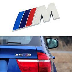 1 pcs ABS Voiture M Puissance Performance Badge Fender Autocollant Pour M BMW E46 E39 E60 E90 E36 E30 F30 F10 E53 E91 E92 E87 M3 M5 M6 X3 X5