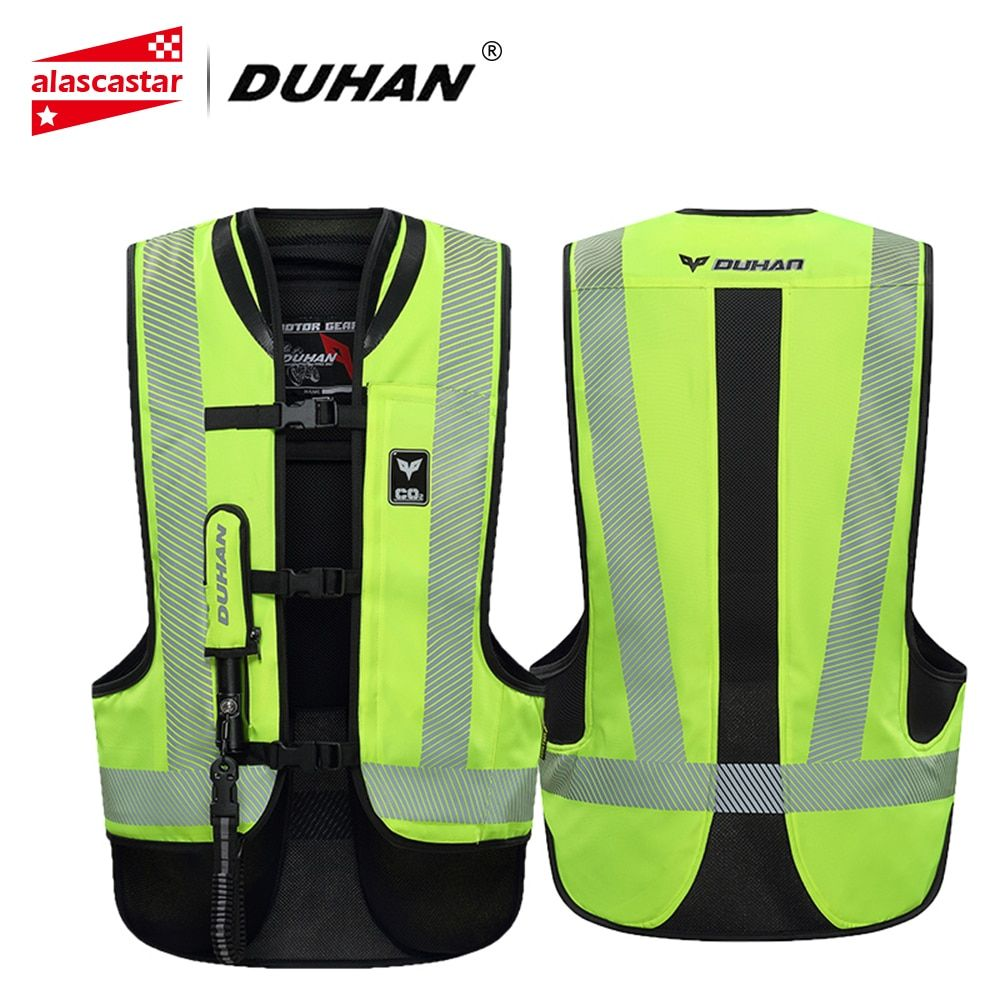 DUHAN Motorcycle Jacket Air-bag Vest Motorcycle Vest Air Bag System Protective Gear Reflective Motorbike Airbag Moto Vest