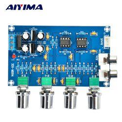 Aiyima HIFI Enthusiast Tone NE5532 Amplifier Tone Preamp Board 2.0 Dual Channel Audio Amplifier Board Treble Bass Adjustment