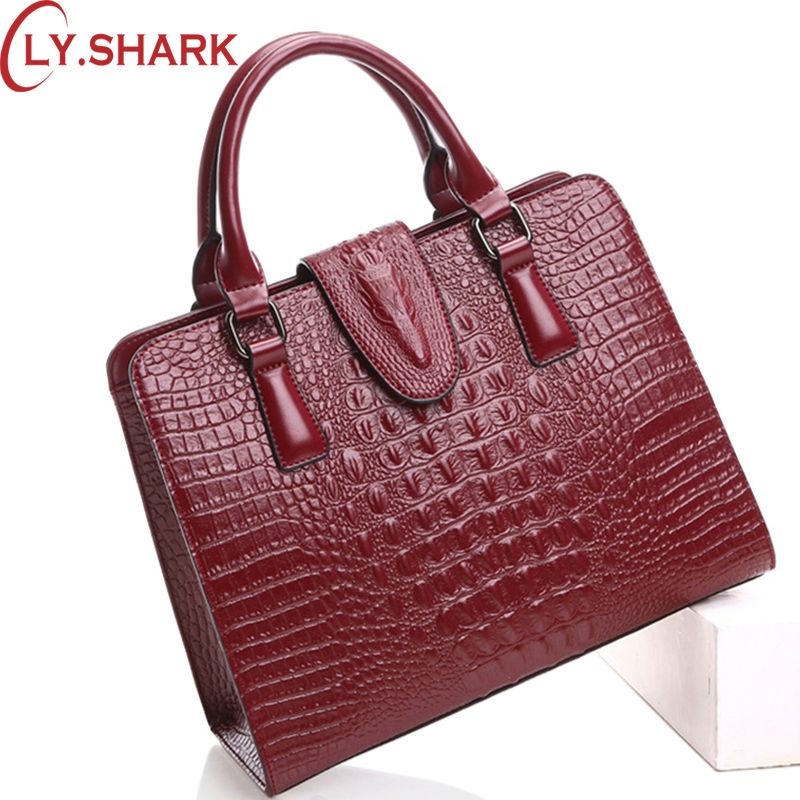 LY.SHARK Women Bag Female Shoulder Bag Handbag Women Famous brands Genuine Leather Bag Ladies Crossbody Messenger Bags Crocodile