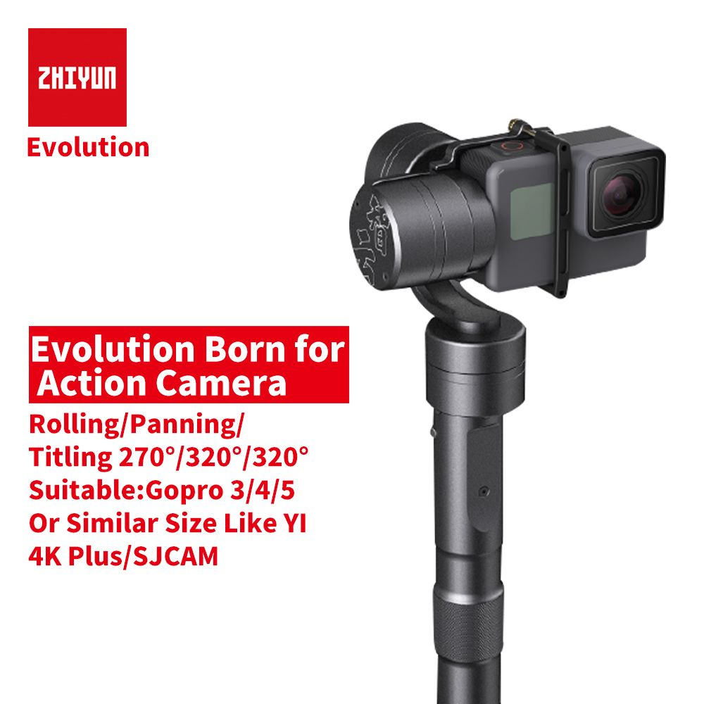 ZHIYUN Original Zhiyun Z1 EVOLUTION 3-Axis Brushless 330 Motors Degree Moving Handheld Gimbal Stabilizer for GoPro Hero Cameras