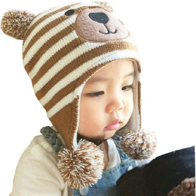 Bébé chapeaux 3 tailles 1-5 ans garçons filles chapeaux enfants hiver chapeaux Bonnet Enfant chapeau pour enfants bébé Muts KF039