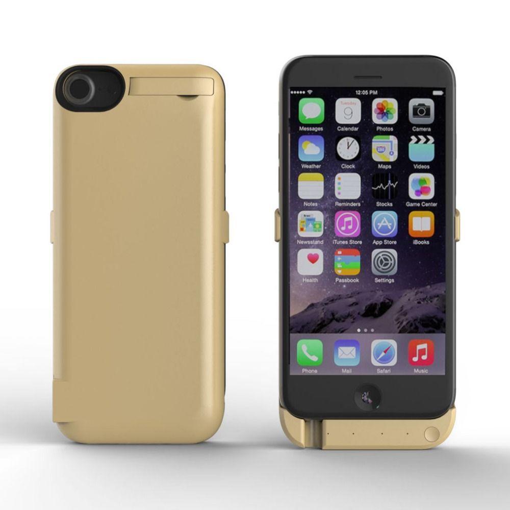 10000 mAh Stand Titulaire Puissance Clip Batterie Cas pour Apple iPhone 6 6 s 7 ip7 Backup Banque De Puissance Externe Mobile Phone Housse