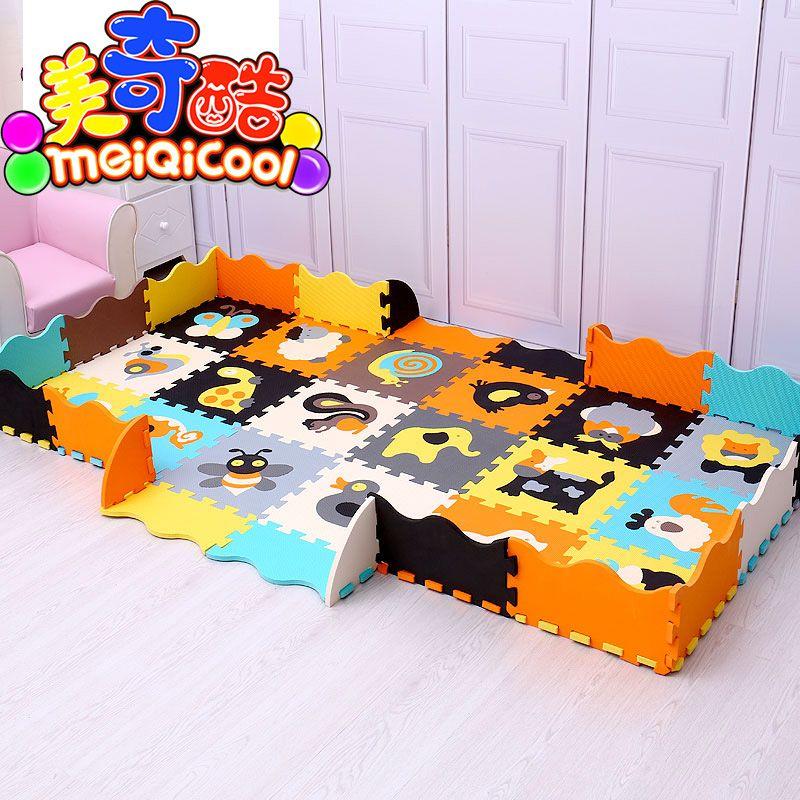 Mei qi kühlen baby spielen matte EVA schaum puzzle matte/Cartoon EVA schaum pad/Verriegelung Matten für kinder 30X30 cm 1 cm oder 32*32 cm 1,2 cm