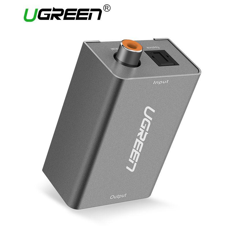 Ugreen цифро-аналоговый аудио адаптер оптический коаксиальный Toslink в 3.5 мм аудио с dc5v/2A ЕС Plug конвертер адаптер для ТВ