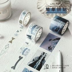 Ins Gaya Retro Washi Tape Hidup Kolase Tape DIY Dekoratif Scrapbooking Masking Tape Perekat Washi Tape Set Label Stiker