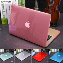 JUNWER Crystal\Matte Transparent Case For Apple Macbook Air Pro Retina 11 12 13.3 15 For Macbook Air 13 A1932 Laptop Case Cover