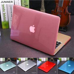 Junwer cristal \ funda transparente mate para Apple MacBook Air pro retina 11 12 13 15 para MacBook Air 13 cubierta de la caja del ordenador portátil