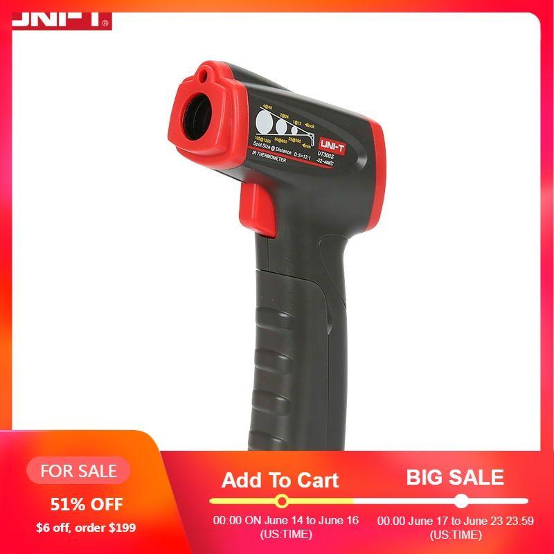 UNI-T UT300S thermomètre infrarouge numérique sans contact température SCAN mesure affichage thermomètre infrarouge numérique industriel