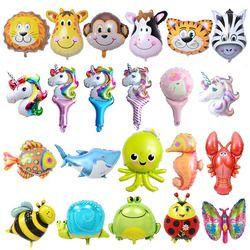 6 шт. мини-шары из фольги для животных украшения для дня рождения Детская Океаническая рыба надувные игрушки Детские шарики для вечеринки