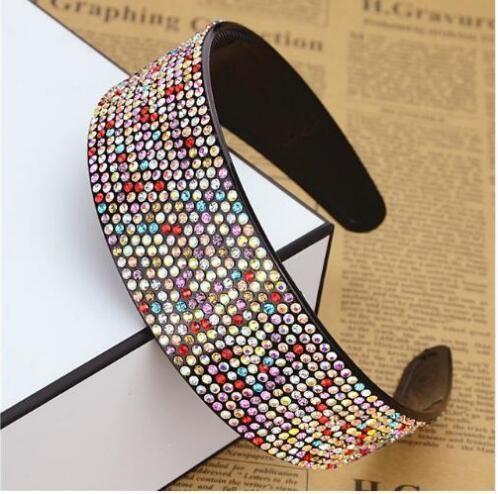 Diamant à larges bords Pression Bandeaux Cheveux Clip Double Rangée Dentelure Non-slip Chapeaux