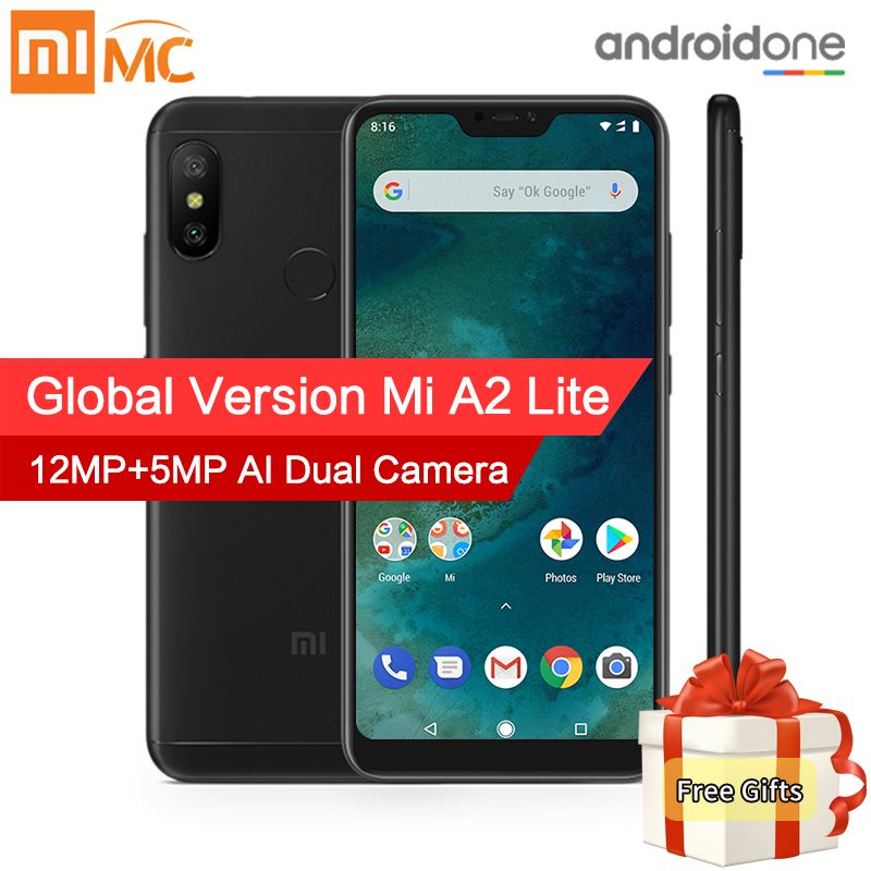 In Stock! Global Version Xiaomi Mi A2 Lite 4GB 64GB Mobile Phone 5.84