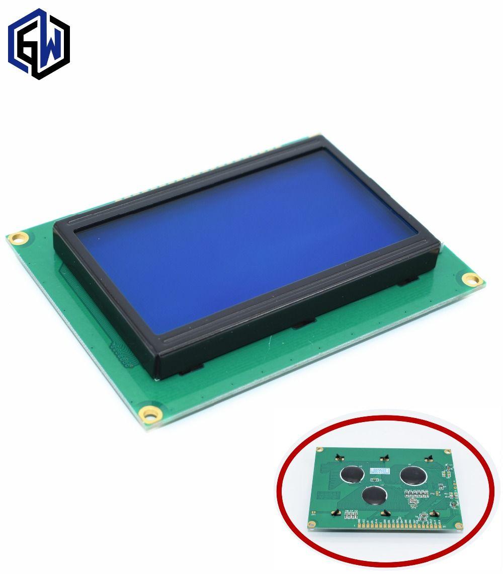 128*64 PUNTOS lcd 5 V pantalla 12864 LCD con luz de fondo azul LCD12864 ST7920 puerto Paralelo