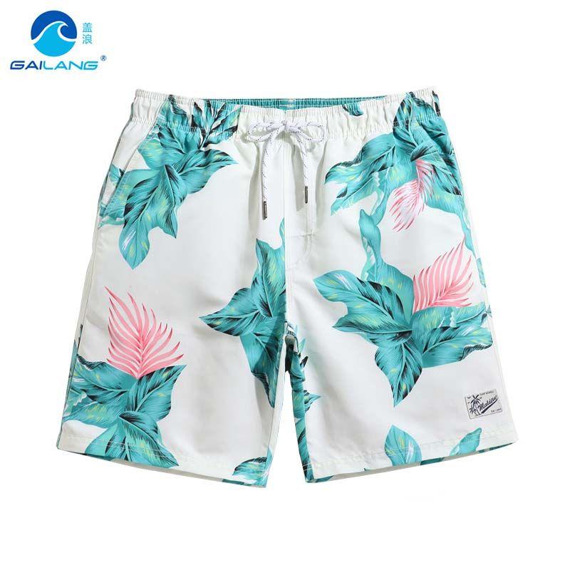 Gailang пары Beach Surf Praia бермуды siwmming стволы мужчин купальники пот с цветочным принтом путешествие plavk эластичные штаны