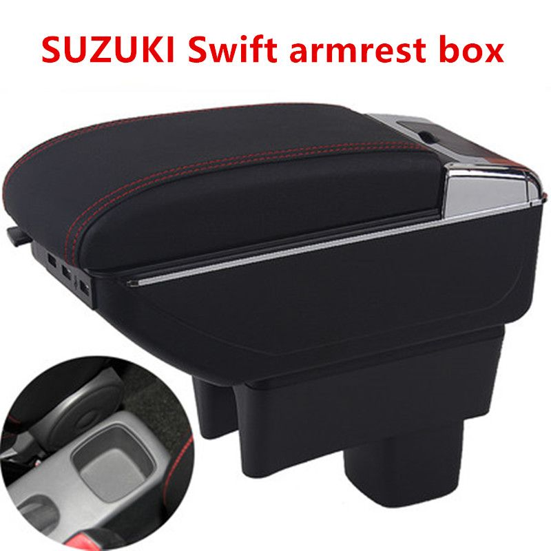 Centre Console Storage Box For Suzuki Swift 2005-2019 Armrest Arm Rest Rotatable Car accessories