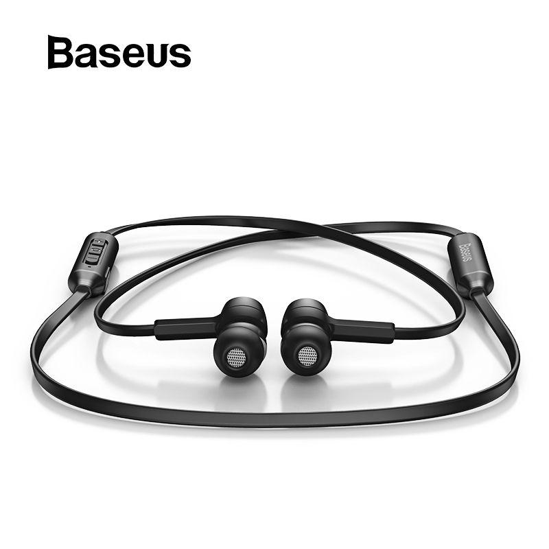 Baseus S06 Bluetooth écouteur sans fil magnétique tour de cou écouteurs mains libres Sport stéréo écouteurs pour Samsung Xiaomi avec micro
