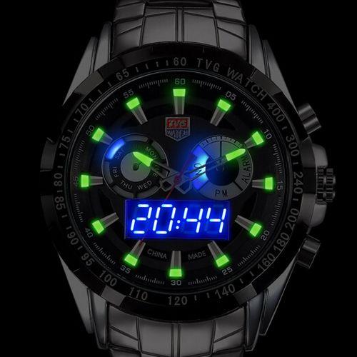 TVG Men Watch 2018 Quartz Wrist Watches Dress Male LED Clock Famous Luxury Brand Stainless Steel Quartz-watch Relogio Gift Boxes