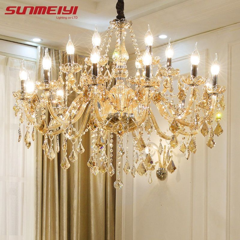 Modern Crystal Chandeliers Home Lighting lustres de cristal Decoration Luxury Candle Chandelier Pendants Living Room Indoor Lamp