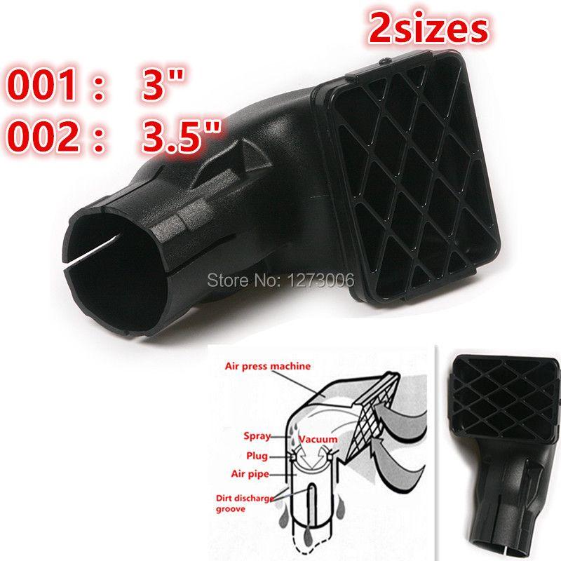 1Pcs Inch 3/3.5 Universal 15x10cm/20X15cm Black Car Air Intake Ram Fit Off Road Replacement Mudding Snorkel Head Air Intake Ram