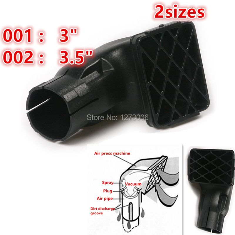 Hot Sale 1Pc 3/3.5 Inch Black Car Air Intake Ram Fit Off Road Replacement Mudding Snorkel Head Air Intake Ram 15x10cm/20X15cm